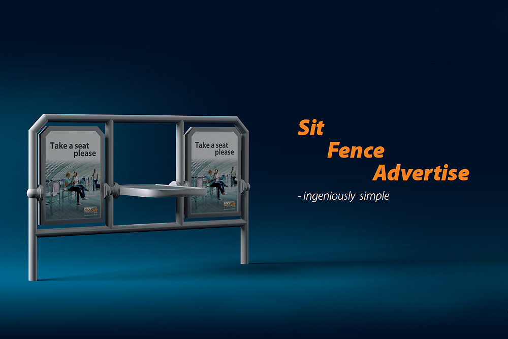 MultiSit sit fence advertise - ingeniously simple